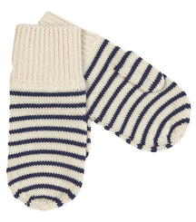 FUB mittens in ecru and navy