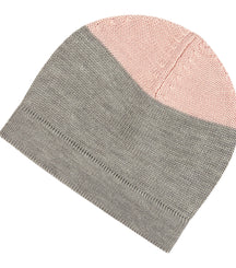 FUB hat in grey with a pink top
