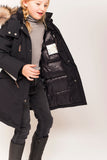 Ver de Terre eskimo down coat girls in navy