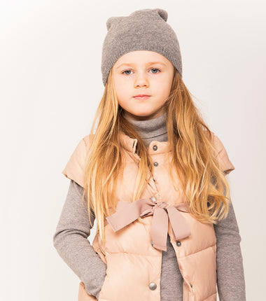 Ver de Terre featherlight girls bodywarmer in mahogany rose