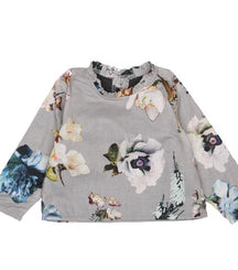 Christina Rohde baby blouse in blue floral print