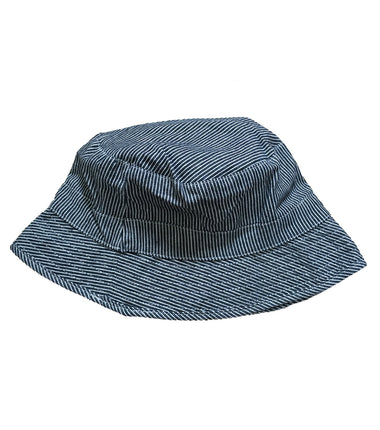 Wheat reversible hat in pencil stripes