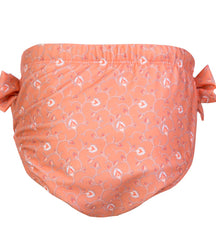 Petit Crabe swimming nappies for babies with loop in the side seam in floral peach