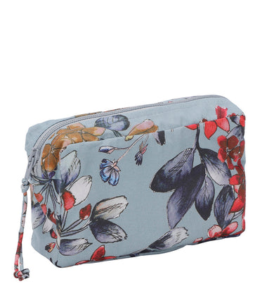 Christina Rohde small beauty bag in grey flower print