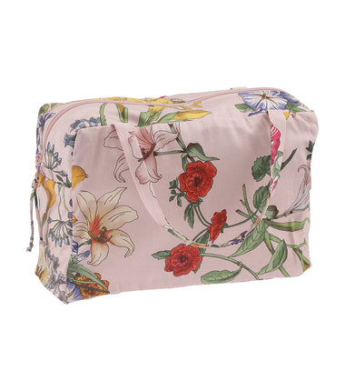 pink floral Christina Rohde wash bag