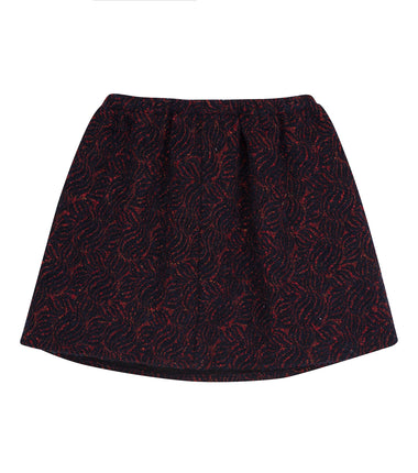 Christina Rohde party skirt in navy with red sparkles