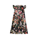 Christina Rohde long dress in black with flowers