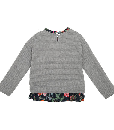 Christina Rohde jumper with navy flower print details