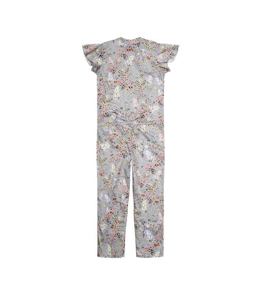 Christina Rohde jumpsuit in grey with flowers