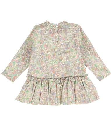 cotton baby girl liberty print dress