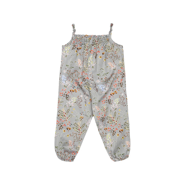 Christina Rohde baby jumpsuit in grey with flowers