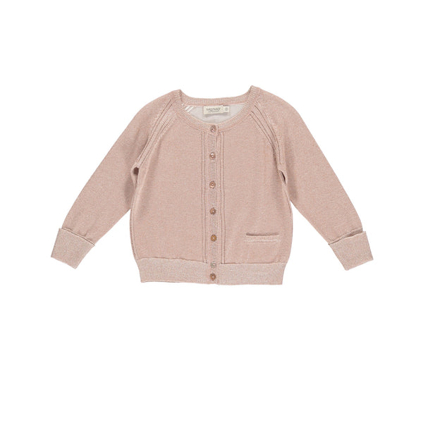 MarMar Copenhagen cardigan Tilda in sparkly burnt rose