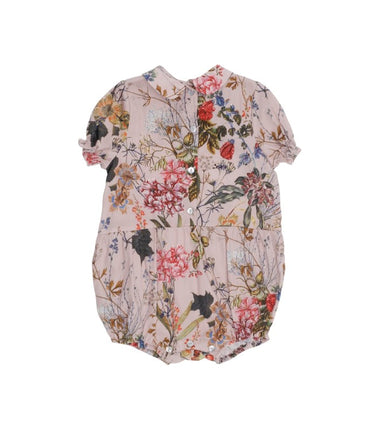 Christina Rohde baby romper with peter pan collar in pink flower print