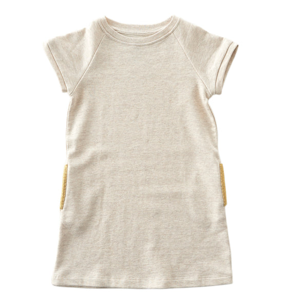 Little Label sweat dress in touch of gold