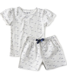 Little Label girls jersey summer pyjama with shorts