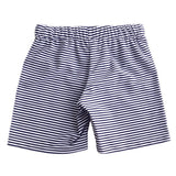 Petit Crabe swim shorts in pencil stripes