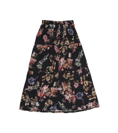 Christina Rohde long skirt in black flowers