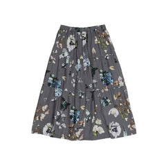 Christina Rohde long skirt in grey flowers