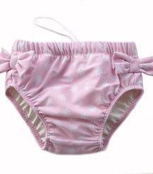 Petit Crabe swimming nappies for babies with loop in the side seam in ballerina pink