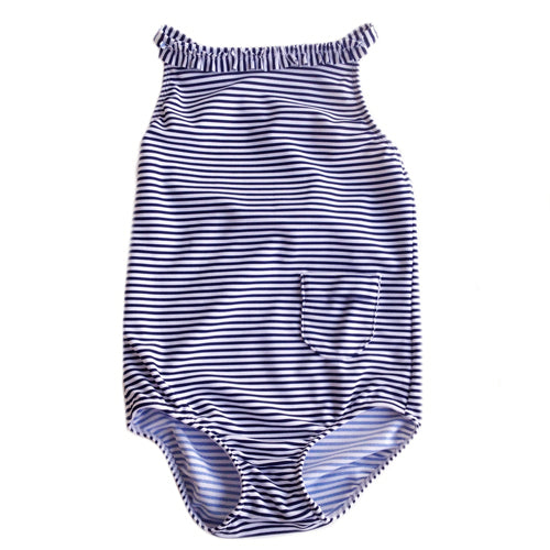 Petit Crabe swimsuit in pencil stripes