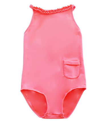 Petit Crabe swimsuit with ruffles in blossom