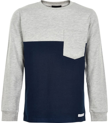 The New long sleeve t-shirt Ignasio in navy