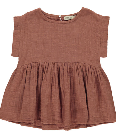 MarMar Copenhagen top Tiora in dusty brick
