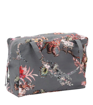 Christina Rohde beauty bag in grey flower print