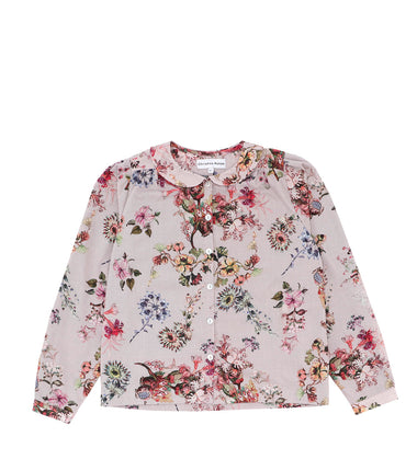 Christina Rohde long sleeve shirt with pink flower print