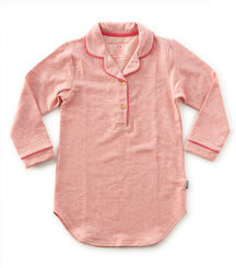 Little Label sleep shirt in pink stripes