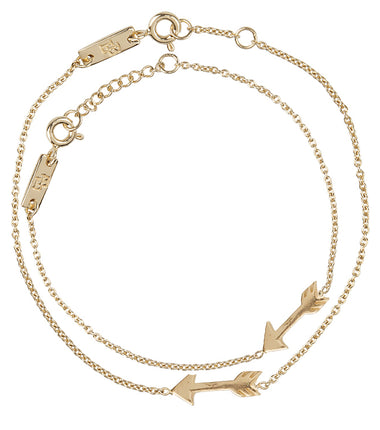 Lennebelle Petites You give me direction mother bracelet in gold