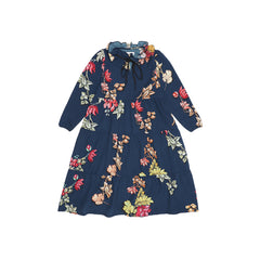 Christina Rohde maxi dress with navy blue flower print