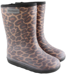 Enfant thermo winter wellies in leopard brown