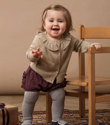 MarMar Copenhagen baby cardigan Tilda in sparkly forest shadow