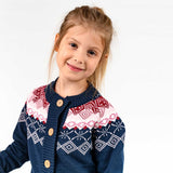 Ebbe cardigan Marcia in navy and pink