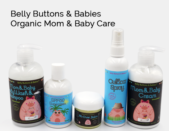 organic baby lotion, organic baby products, belly buttons and babies