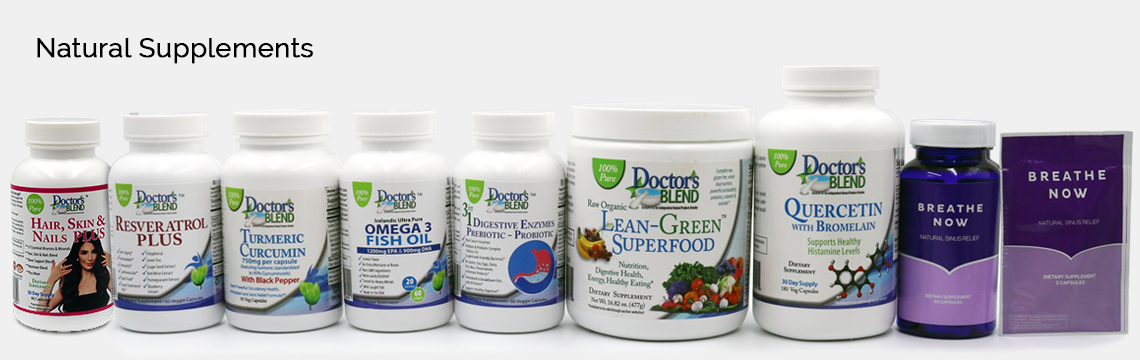 natural supplements, natural sinus relief, doctor's blend, breathe now, herbal supplements