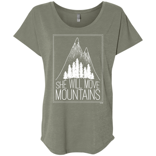 Ladies' Triblend Dolman Sleeve - She Will Move Mountains