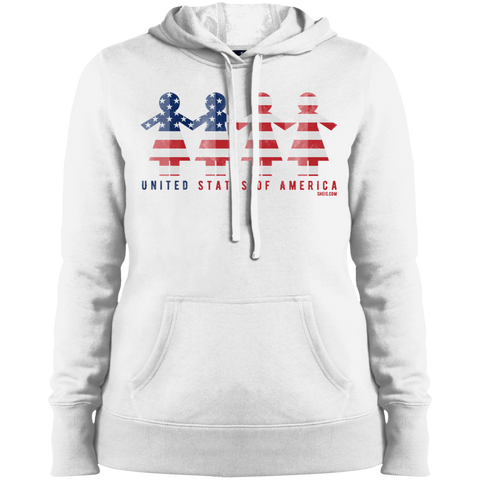 Ladies' Pullover Hooded Sweatshirt - United We Stand