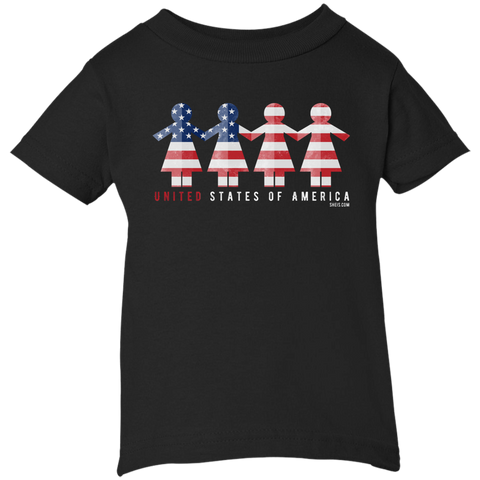 Infant Short Sleeve T-Shirt - United We Stand