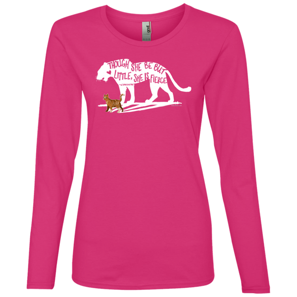 Ladies' Lightweight LS T-Shirt - She is Fierce