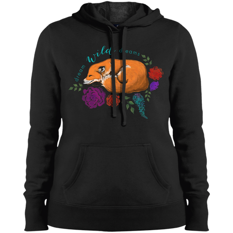 Ladies' Pullover Hooded Sweatshirt - Dream Wild Dreams