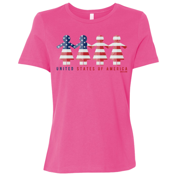 Ladies' Relaxed Jersey Short-Sleeve T-Shirt - United We Stand