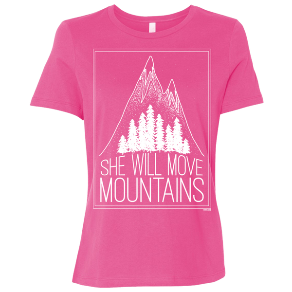 Ladies' Relaxed Jersey Short-Sleeve T-Shirt - She Will Move Mountains