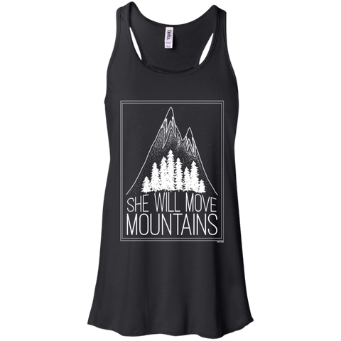 Flowy Racerback Tank - She Will Move Mountains