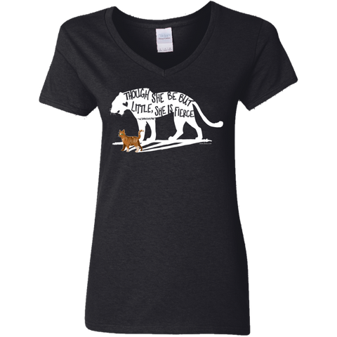 Ladies' V-Neck T-Shirt - She is Fierce