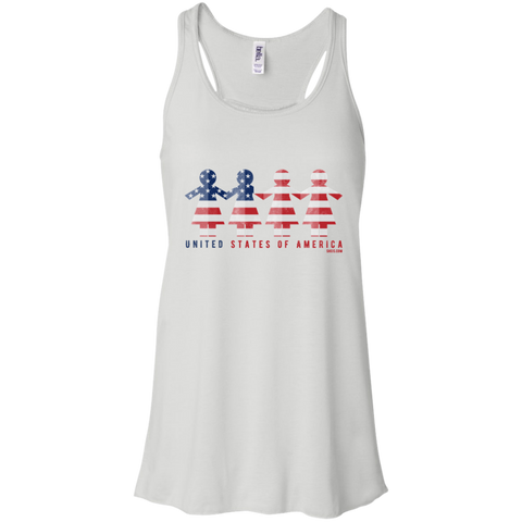 Flowy Racerback Tank - United We Stand