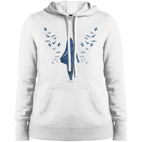 Ladies' Pullover Hooded Sweatshirt - She is Whimsical