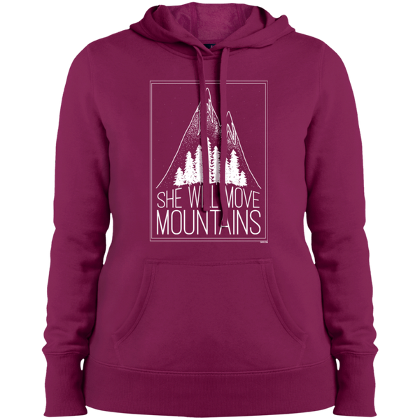 Ladies' Pullover Hooded Sweatshirt - She Will Move Mountains