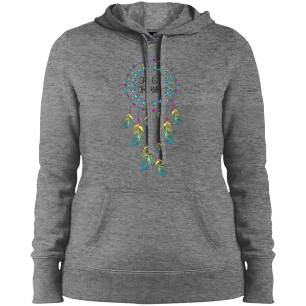 Ladies' Pullover Hooded Sweatshirt - She is a Dreamer